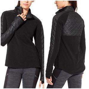 Athleta Quilted Half Zip Pullover